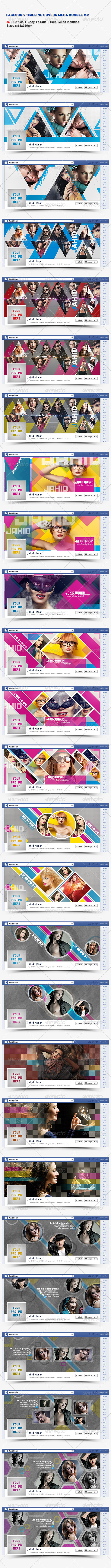 Facebook Timeline Covers Mega Bundle V-2 - Facebook Timeline Covers Social Media
