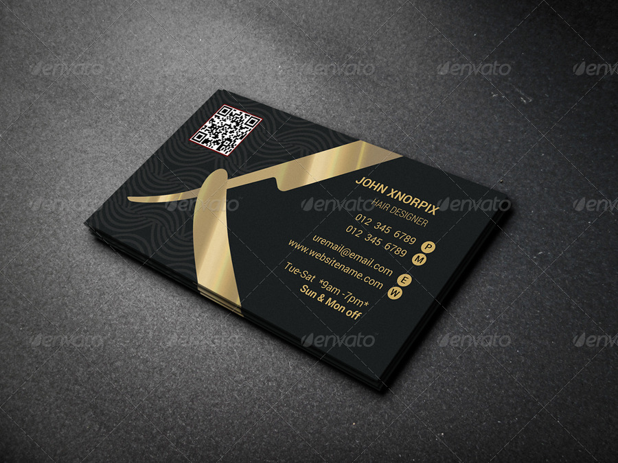 barber business card by