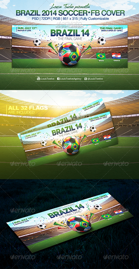 Brazil 14 Soccer Tournament | Facebook Cover