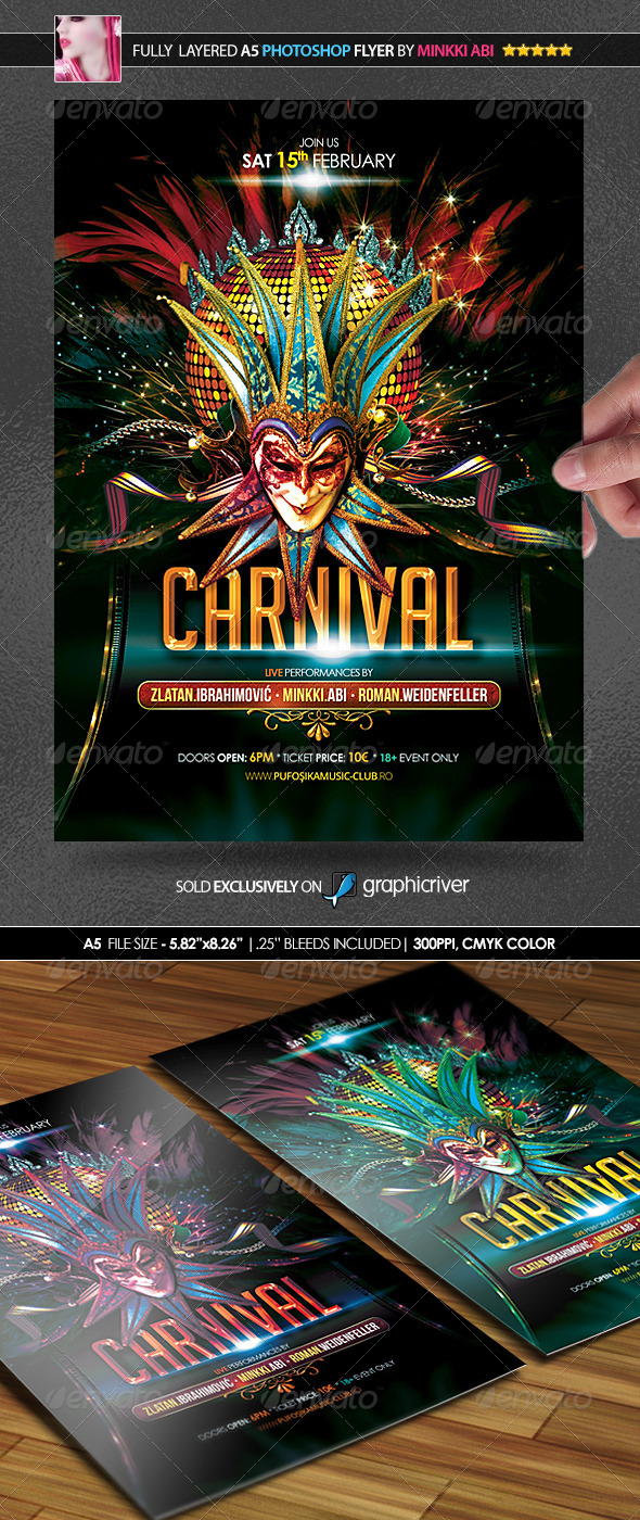 Carnival Party Poster/Flyer - Flyers Print Templates