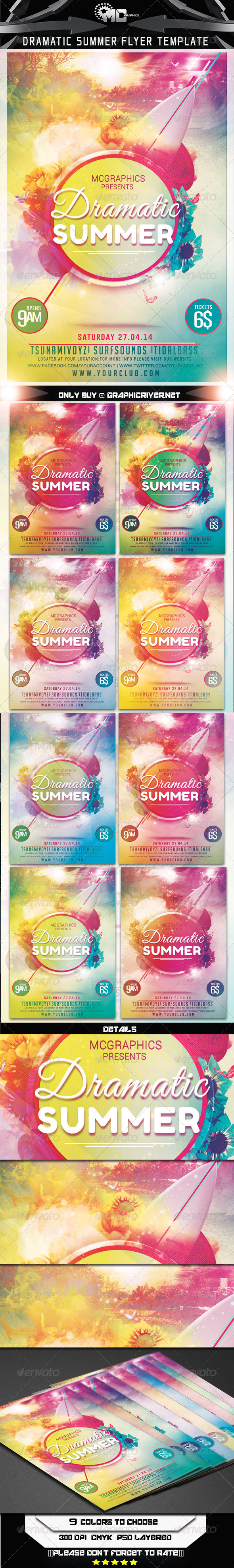 Dramatic Summer Flyer Template