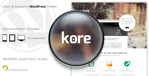 The Kore Responsive Business WordPress Theme