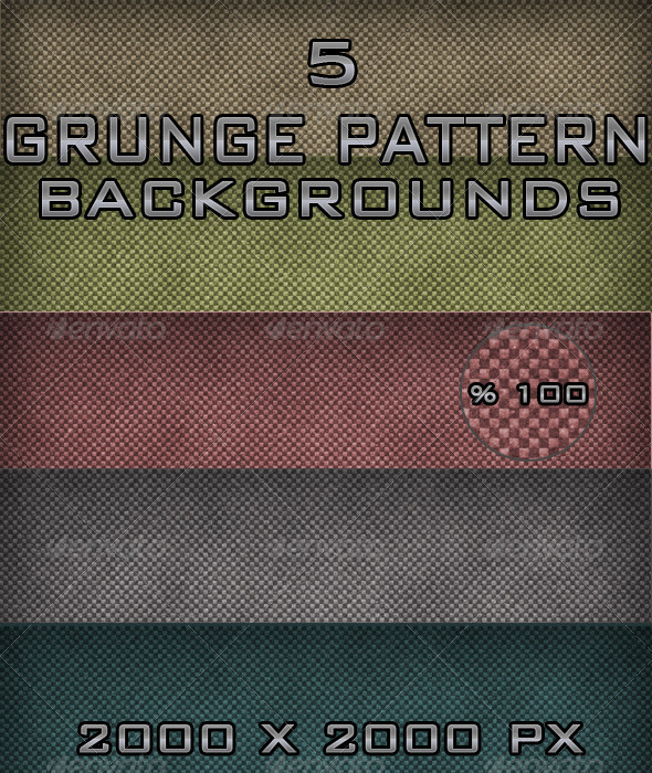 5 Grunge Pattern Backgrounds - Backgrounds Graphics
