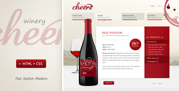 Cheers – Premium and Modern Website for Winery
