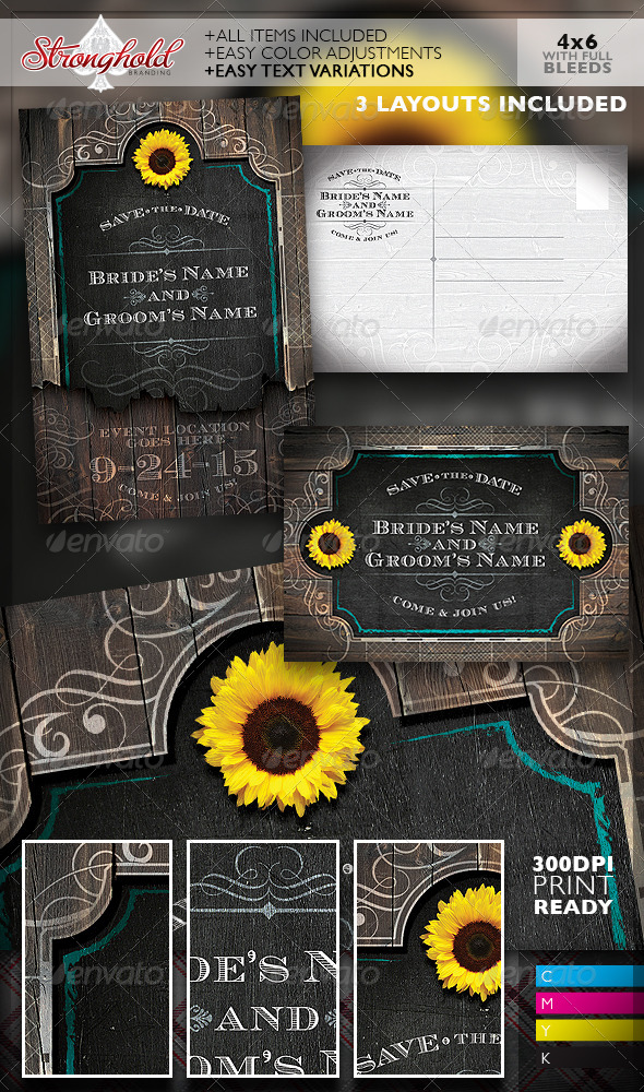 Western Save The Date Wedding Flyer Template By Getstronghold - Save the date flyer template