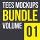 Tees Mockups Bundle Vol. 01 - GraphicRiver Item for Sale