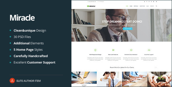 Miracle -  Multi-Purpose PSD Template - Creative PSD Templates