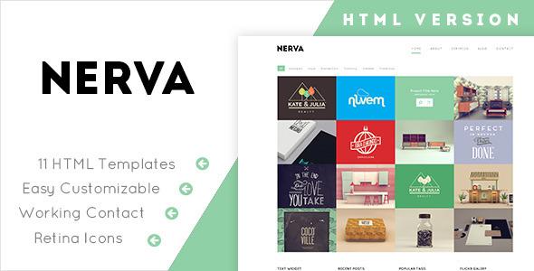 Nerva - Minimal Design HTML Template - Portfolio Creative