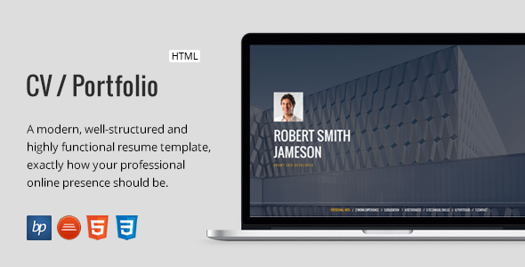 CV / Portfolio – Responsive Resume - Resume / CV Specialty Pages