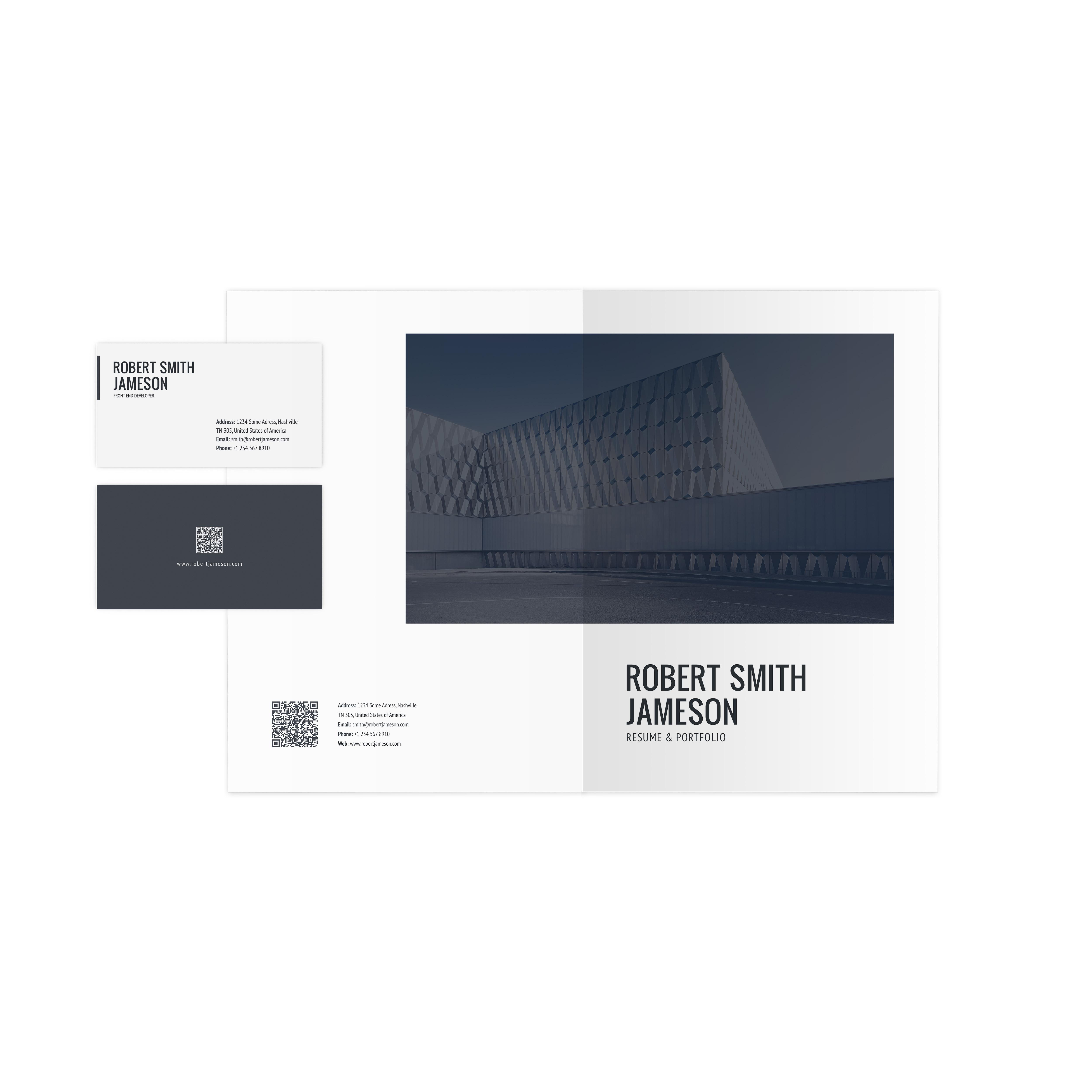 ... 05_preview Folder Business Card ...  Resume Portfolio Folder