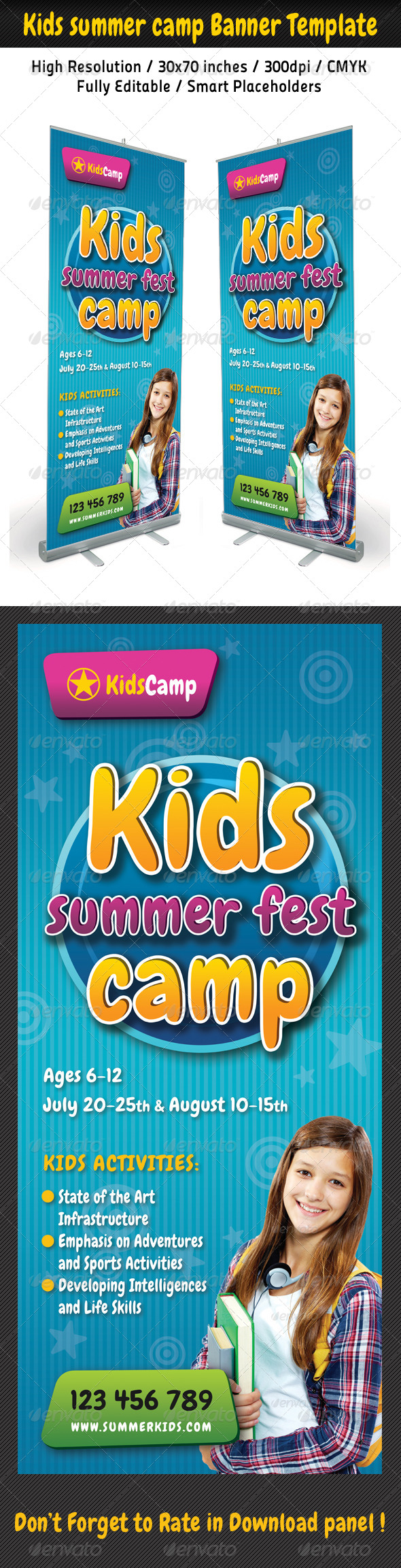 Kids Summer Camp Banner Template 02