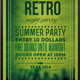 Retro Night Party Typography Poster