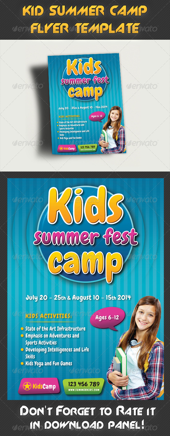 Kids Summer Camp Flyer Template 02