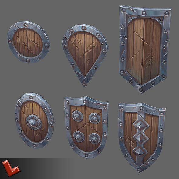 'Militia' shields set - 3DOcean Item for Sale