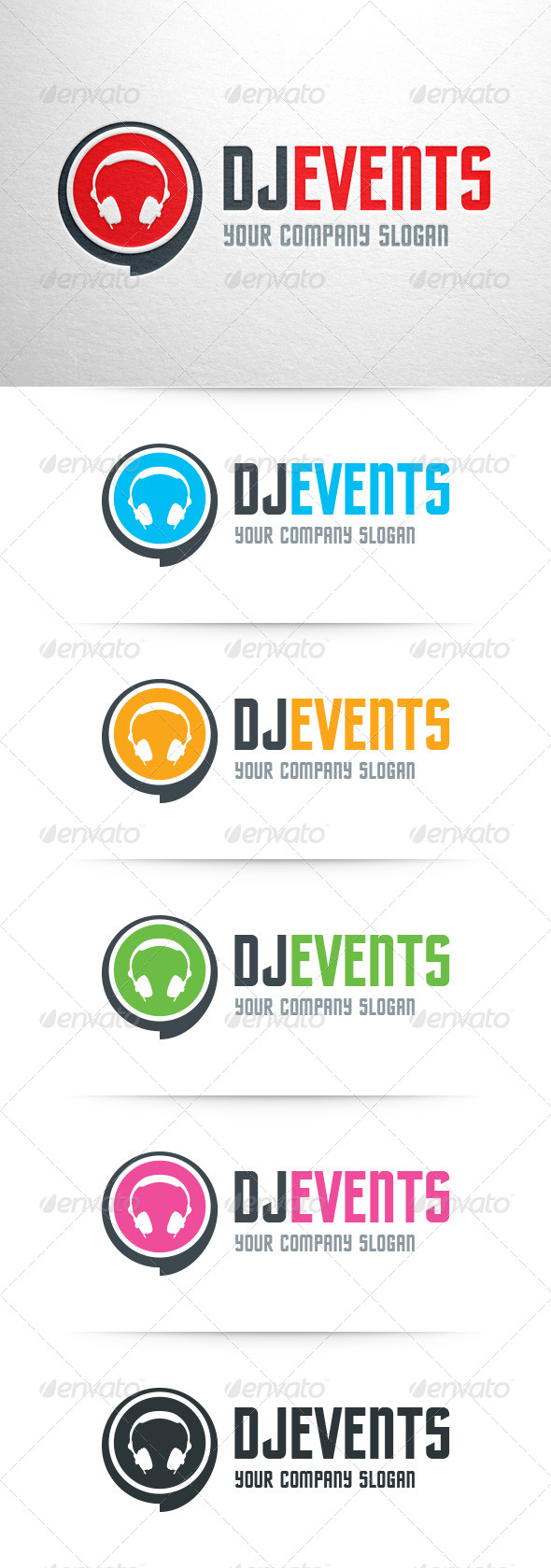 DJ Events Logo Template by LiveAtTheBBQ   GraphicRiver
