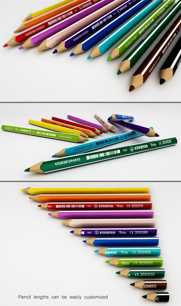 Color Pencil Set - 3DOcean Item for Sale