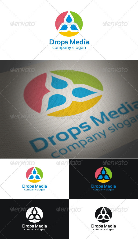 Drops Media - Symbols Logo Templates