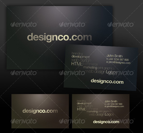 Dark textured business card, realistic lighting - Creative Business Cards
