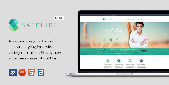 Sapphire - Responsive Business HTML5 Template - Business Corporate