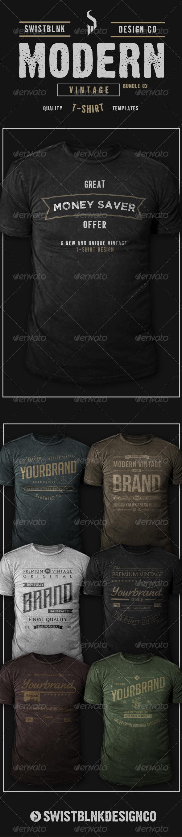 Modern Vintage T-Shirt Bundle 02 - Designs T-Shirts