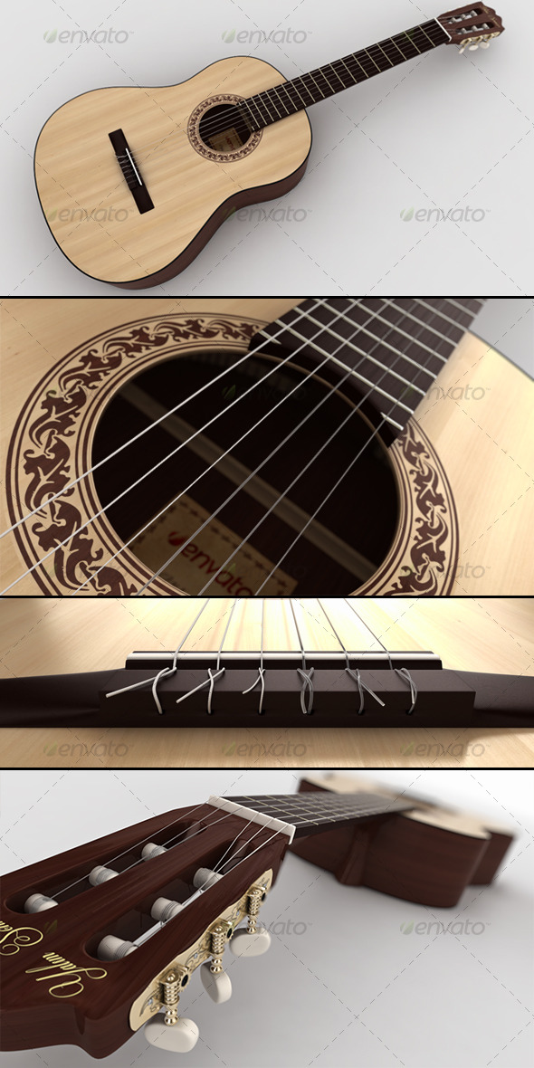 Classical Guitar - 3DOcean Item for Sale