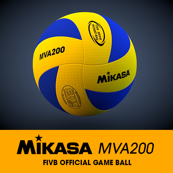 Mikasa MVA200 Volleyball 3D Model - 3DOcean Item for Sale
