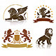 Emblems Set with Heraldic Lions - GraphicRiver Item for Sale