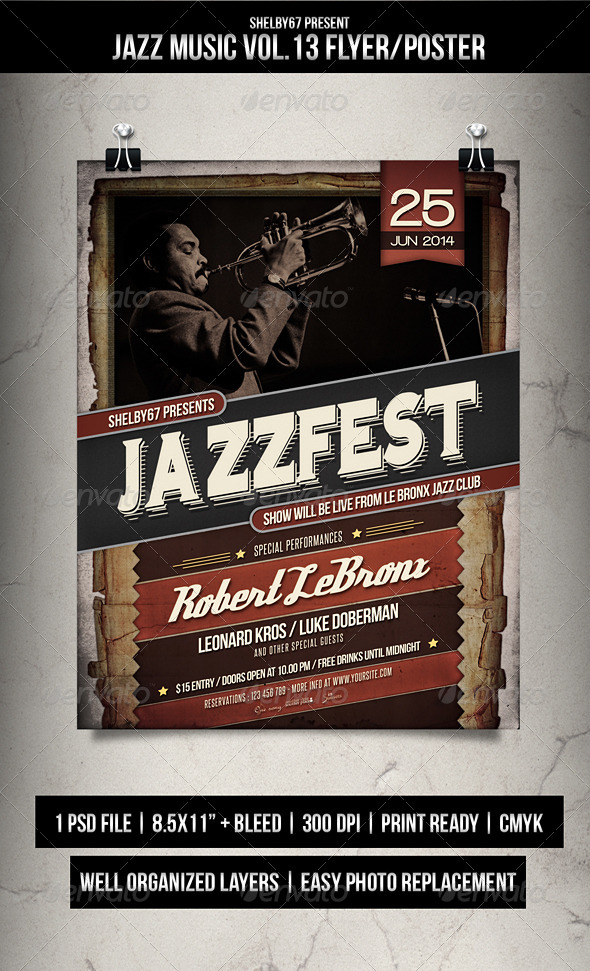 Jazz Music Flyer / Poster Vol.13 - Events Flyers