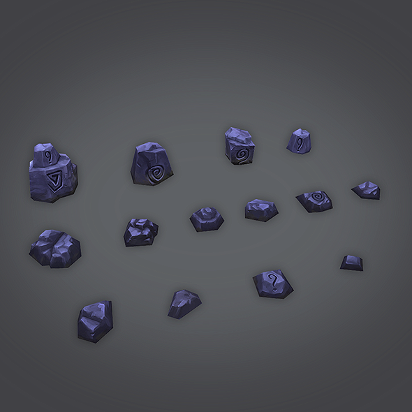 Low Poly Rock Set 01 - 3DOcean Item for Sale