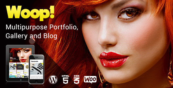 Woop - Multipurpose Portfolio, Gallery and Blog