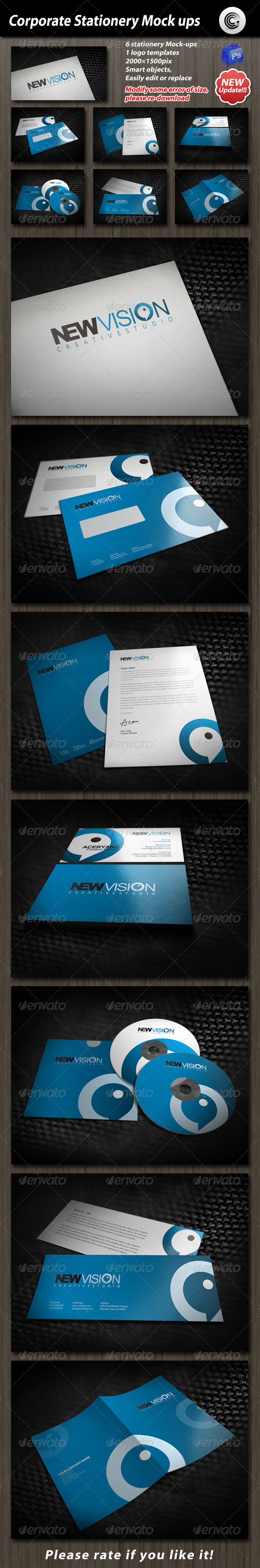 Corporate Stationery Mock-up - Stationery Print