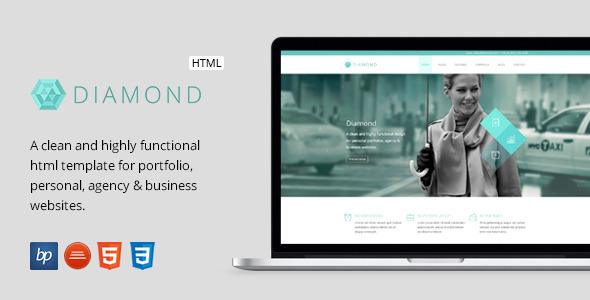 Diamond – Responsive Business HTML5 Template