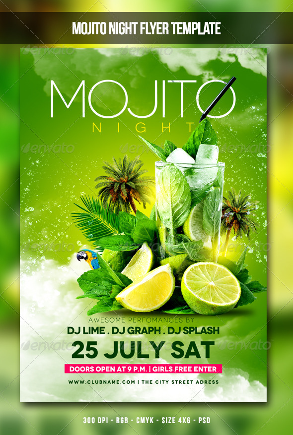 Mojito Night Flyer - Clubs & Parties Events