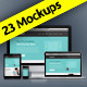 23 Devices Responsive Screen Web Mockup - GraphicRiver Item for Sale