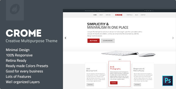 Crome - Creative Multipurpose Template - Creative PSD Templates