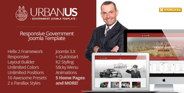 Image of Urbanus - Responsive Government Joomla Template