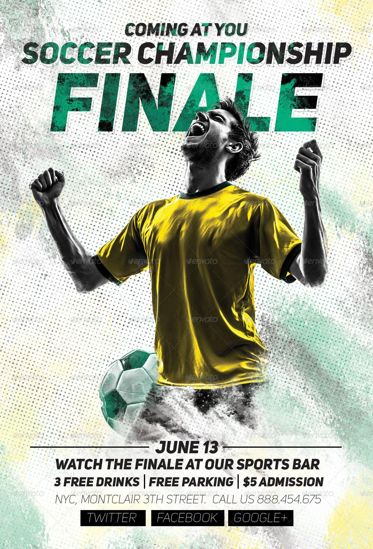 soccer championship finale flyer by sanchyz