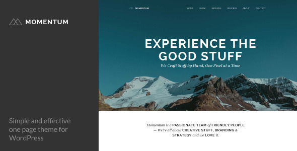 Momentum – Simple Creative One Page Theme