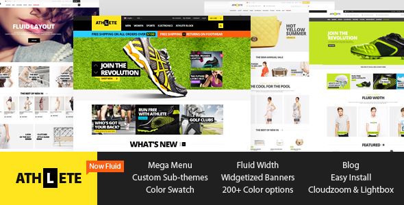 Athlete – Fluid Responsive Magento Theme