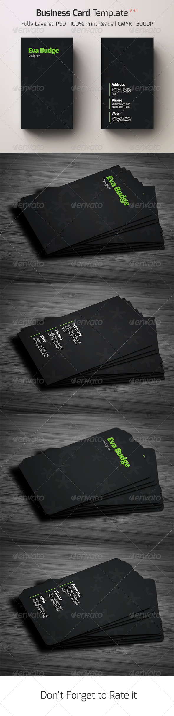 Business Card Template v - 3.1 - Creative Business Cards