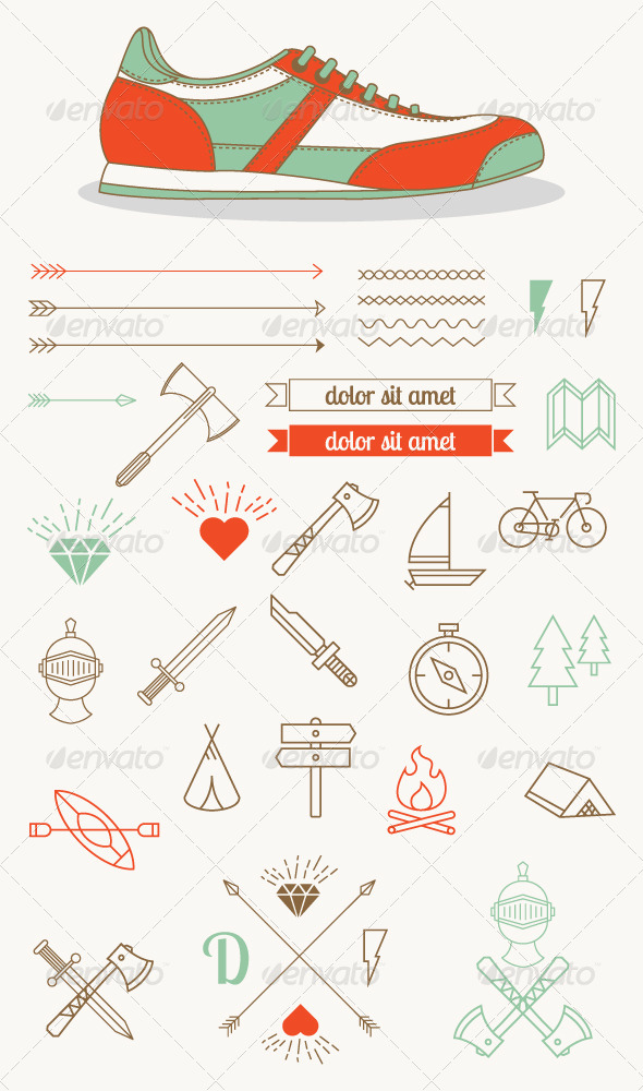 Hipster Style Badges and Icons - Miscellaneous Vectors