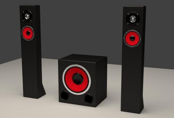 Subwoofer Satellites Speaker Set - 3DOcean Item for Sale