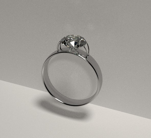 Diamond Ring silver - 3DOcean Item for Sale
