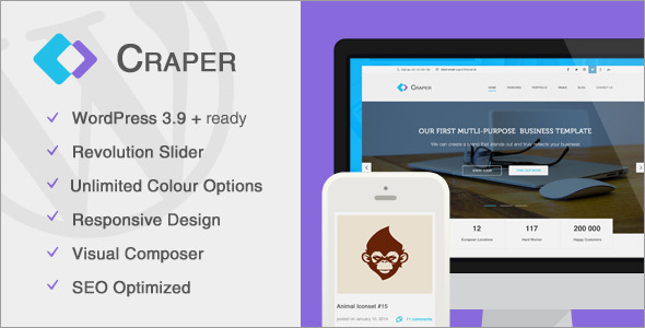 Craper – Responsive Business WordPress Theme