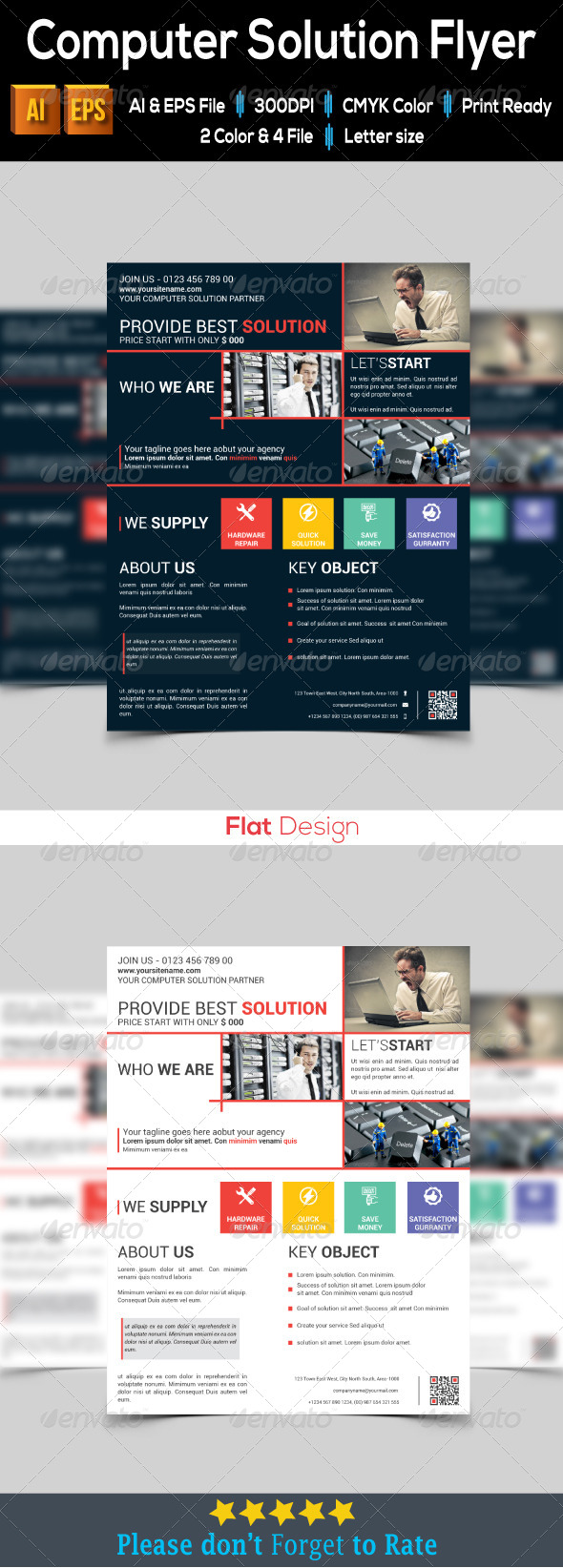 Computer Solution Flyer - Corporate Flyers
