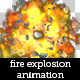 Big Fire Explosion Animation With Debris - GraphicRiver Item for Sale