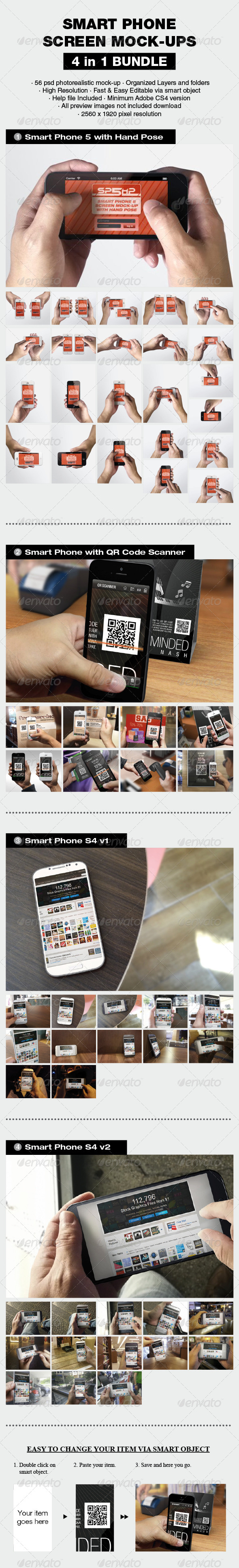 Smart Phone Mock-up Bundle