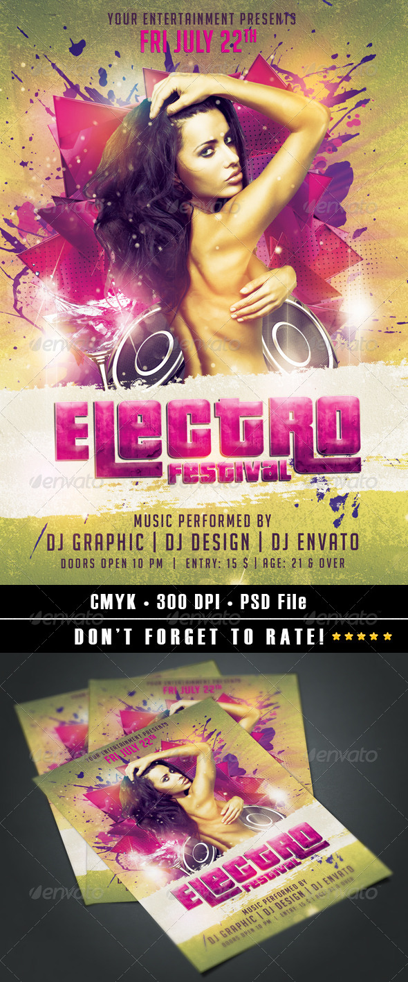 Electro Festival Flyer - Events Flyers