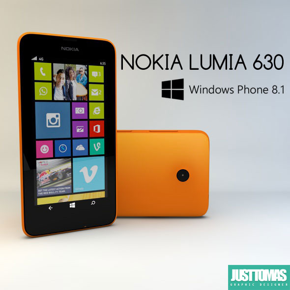 Nokia Lumia 630 - 3DOcean Item for Sale