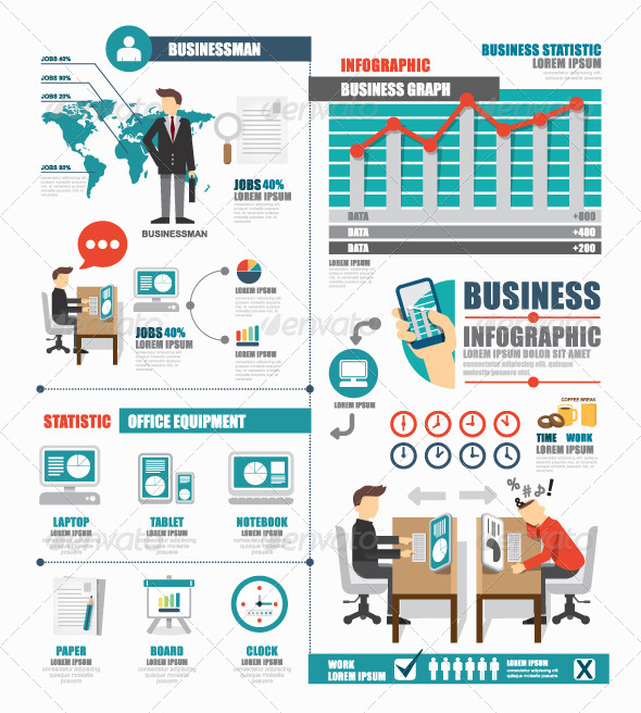 infographic business world job template design by